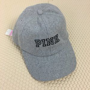 VS PINK One Size Gray Wool Blend Baseball Cap